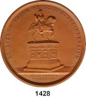 MEDAILLEN AUS PORZELLAN,Andere Hersteller Sonstige HerstellerEinseitige hellbraune Terrakottamedaille 1845.  Reiterdenkmal.  Umschrift GUILIELMO PRIMO PRINCIPI ARAUSIONENSUM.  Unter dem Standbild ANNO DOMINI MDCCCXXXV.  L.BOUVET.F.  Rückseite mit Widmung aus dem Jahre 1904.  63,4 mm.