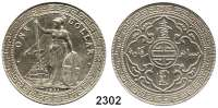 AUSLÄNDISCHE MÜNZEN,G R O S S B R I T A N N I E N Georg V. 1910 - 1936Trade Dollar 1911 B. Bombay.  Schön A 1.  KM T 5.