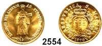 AUSLÄNDISCHE MÜNZEN,San Marino 2 Scudi 1974.  (5,5 g fein).  Schön 39.  KM 39.  Fb. 3.  GOLD