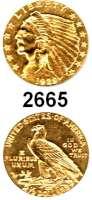 AUSLÄNDISCHE MÜNZEN,U S A 2 1/2 Dollars 1929, Philadelphia.  (3,76 g fein).  Schön 138.  KM 128.  Fb. 120.  GOLD