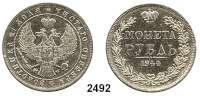 AUSLÄNDISCHE MÜNZEN,Russland Nikolaus I. 1825 - 1855Rubel 1844 MW, Warschau.  Bitkin 423.  Schön 73.  Craig. 168.