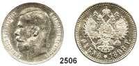 AUSLÄNDISCHE MÜNZEN,Russland Nikolaus II. 1894 - 1917Rubel 1898**, Brüssel.  Bitkin 204.  Schön 147.  Y. 59.