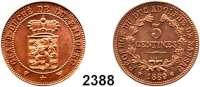 AUSLÄNDISCHE MÜNZEN,Luxemburg Wilhelm III. 1849 - 1890Probe zu 5 Centimes (Kupfer) 1889.  KM E 13.