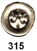 Deutsche Münzen und Medaillen,Pommern Demmin, StadtHohlpfennig o.J. (um 1300).  0,23 g.  Lilie.