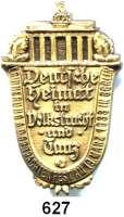 Orden, Ehrenzeichen, Militaria, Zeitgeschichte,Deutschland Drittes ReichEinseitige Messingplakette (Hohlprägung).  Erinnerung a. d. Gr. Trachtenfest am 19. März 1933 in Berlin.  Brandenburger Tor über Schriftschild