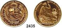 AUSLÄNDISCHE MÜNZEN,Peru Republik seit 182250 Soles 1962.  (21,06 g fein).  Schön 33.  KM 230.  Fb. 79.  GOLD