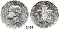 AUSLÄNDISCHE MÜNZEN,Portugal Emanuel II. 1908 - 19101000 Reis 1910.  100. Jahrestag des Krieges gegen Napoleon I.  Schön 15.  KM 558.