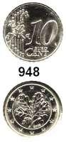 B U N D E S R E P U B L I K,Verprägungen und Kuriositäten 10 Cent 2003 A.  Jaeger 485.  Stempelkopplung Wertseite des 10 Centstückes und Wappenseite des 2 Centstückes.  Kupfer-Nickel-Schrötling.  Kerbrand.  19,55 mm Ø  3,53 Gramm.