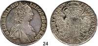 Römisch Deutsches Reich,Haus Habsburg Maria Theresia 1740 - 1780Taler 1753, Hall.  28,08 g.  Dav. 1121.  Voglh. 274/I.  Herinek 446.