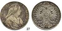 Römisch Deutsches Reich,Haus Habsburg Maria Theresia 1740 - 1780Taler 1770 S.C., Günzburg.  27,75 g.  Dav. 1149.  Voglh. 271/II.  Herinek 503.