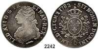AUSLÄNDISCHE MÜNZEN,Frankreich Ludwig XVI. 1774 - 1793Ecu aux rameaux d´olivier 1782 Q, Narbonne.  28,87 g.  Duplessy 1708.  KM 564.13.