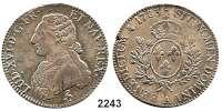 AUSLÄNDISCHE MÜNZEN,Frankreich Ludwig XVI. 1774 - 1793Ecu aux rameaux d´olivier 1783 A, Paris.  29,35 g.  Duplessy 1708.  KM 564.1.