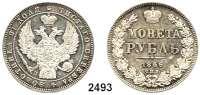 AUSLÄNDISCHE MÜNZEN,Russland Nikolaus I. 1825 - 1855Rubel 1846, St. Petersburg.  Schön 73.  Craig 168.1.
