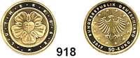 B U N D E S R E P U B L I K, 50 EURO 2017 A.  Reformationsjubiläum - Lutherrose.  GOLD  Im Originaletui.