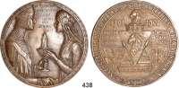 M E D A I L L E N,Personen Bonin (Adelsgeschlecht)Bronzegußmedaille 1901.  600 Jahrfeier des Geschlechts derer von Bonin.  123 mm.  392 g.