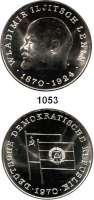 Deutsche Demokratische Republik   PP-Patina !!!!!,M E D A I L L E N LOT von 2 Feinsilbermedaille 1970.  100. Geburtstag von Wladimir Iljitsch Lenin  26 und 40 mm.  8,8 und 22 g.