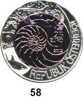 Österreich - Ungarn,Österreich 2. Republik ab 194525 Euro 2012 (Bi-Metall Silber/Niob).  Bionik.  Im Originaletui mit Zertifikat.