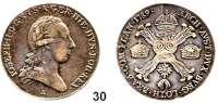 Römisch Deutsches Reich,Haus Habsburg Josef II. 1765 - 17901/2 Kronentaler 1789 A, Wien.  14,7 g.  Herinek 195.