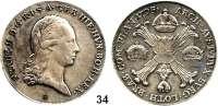 Römisch Deutsches Reich,Haus Habsburg Franz II. 1792 - 1806 (1835)Kronentaler 1795 H, Günzburg.  29,46 g.  Dav. 1180.  Herinek 484.