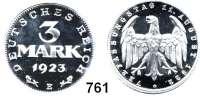 R E I C H S M Ü N Z E N,I.Weltkrieg und Inflation 3 Mark 1923 E.