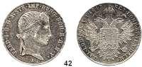 Österreich - Ungarn,Habsburg - Lothringen Ferdinand I., 1835 - 1848Konventionstaler 1843 A, Wien.  Kahnt 345.  Frühwald 770.  Herinek 140.  Dav. 14.  Jg. 246.