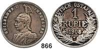 Besetzte Gebiete  -  Kolonien  -  Danzig,Deutsch - Ostafrika 1 Rupie 1908 J.