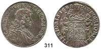 Deutsche Münzen und Medaillen,Pommern Karl XI. von Schweden 1660 - 16972/3 Taler 1681 BA, Stettin.  18,61 g.  Dav. 764.  Ahlström 92.