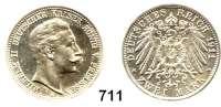 R E I C H S M Ü N Z E N,Preussen, Königreich Wilhelm II. 1888 - 19182 Mark 1911.