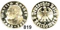 R E I C H S M Ü N Z E N,Drittes Reich 2 Reichsmark 1933 D.     Luther.