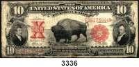 P A P I E R G E L D,AUSLÄNDISCHES  PAPIERGELD U.S.A.10 Dollars 1901.