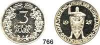 R E I C H S M Ü N Z E N,Weimarer Republik 3 Reichsmark 1925 A.      Rheinland.
