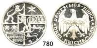 R E I C H S M Ü N Z E N,Weimarer Republik 3 Reichsmark 1927 A.     Marburg.