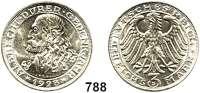 R E I C H S M Ü N Z E N,Weimarer Republik 3 Reichsmark 1928 D:      Dürer.
