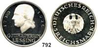 R E I C H S M Ü N Z E N,Weimarer Republik 5 Reichsmark 1929 F.      Lessing.