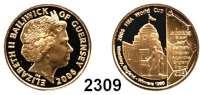 AUSLÄNDISCHE MÜNZEN,Guernsey 25 Pfund 2006 (7,32 g fein).  Fußball WM 2006 - Spieler vor Wembley Stadion.  Schön 185.  KM 174.  Fb. 61.  GOLD