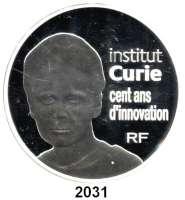 AUSLÄNDISCHE MÜNZEN,E U R O  -  P R Ä G U N G E N Frankreich50 Euro 2009.  (Silber, 5 Unzen).  100 Jahre