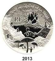 AUSLÄNDISCHE MÜNZEN,E U R O  -  P R Ä G U N G E N Frankreich20 Euro 2006.  (Silber, 5 Unzen).  Jules Verne - Reise zum Mittelpunkt der Erde.  Schön 873.  KM 2065.  Im Originaletui mit Zertifikat.