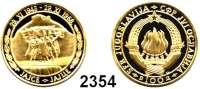 AUSLÄNDISCHE MÜNZEN,Jugoslawien 100 Dinara 1968.  (7,03 g fein).  Denkmal von Jaice in Bosnien.  Schön 46.  KM 51.  Fb. 9.  GOLD