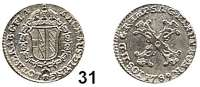 Römisch Deutsches Reich,Haus Habsburg Josef II. 1765 - 179010 Liards 1789, Brüssel.  2,34 g.  Herinek 394.  Schön 67.