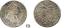 Römisch Deutsches Reich,Haus Habsburg Leopold I. 1657 - 170515 Kreuzer 1663, Wien. 6,52 g. Herinek 922.