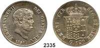 AUSLÄNDISCHE MÜNZEN,Italien Neapel und SizilienFerdinand II. 1830 - 1859  120 Grana 1856.  Schön 35.  KM 370.
