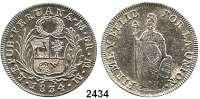 AUSLÄNDISCHE MÜNZEN,Peru Republik seit 18228 Reales 1834 MM.  Schön 47.  KM 142.3.
