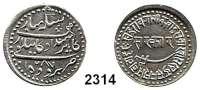 AUSLÄNDISCHE MÜNZEN,Indien BarodaNazarana Rupee AH 1287.  11,4 g.  Y. 14.1.