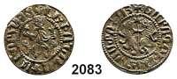 AUSLÄNDISCHE MÜNZEN,Armenien Leo II. 1198 - 1219Dram.  Thronender König. / Zwei Löwen zu Seiten eines Kreuzes.  2,96 g.  Slg. Windisch-Grätz 21.261.
