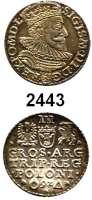 AUSLÄNDISCHE MÜNZEN,Polen Sigismund III. 1587 - 16323 Gröscher 1592, Marienburg.  2,4 g.  Gumowski 1004.