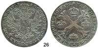 Römisch Deutsches Reich,Haus Habsburg Maria Theresia 1740 - 1780Kronentaler 1767, Brüssel.  29,4 g.  Dav. 1282.  Herinek 1943.