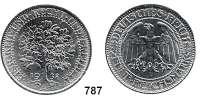 R E I C H S M Ü N Z E N,Weimarer Republik 5 Reichsmark-Probe 1932 A.  Eichbaum  Eisen-Chrom-Mangan (Chromstahl), glatter Rand.