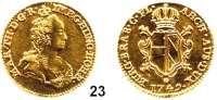 Römisch Deutsches Reich,Haus Habsburg Maria Theresia 1740 - 17802 Souverain d'or 1749, Antwerpen.  10,87 g.  Herinek 330.  Delmonte 208.  Fb. 130.  GOLD