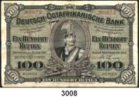 P A P I E R G E L D,D E U T S C H E      K O L O N I E N Deutsch-Ostafrika100 Rupien 15.6.1905.  Ros. DOA-4 a.