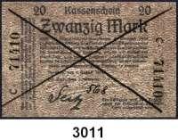 P A P I E R G E L D,D E U T S C H E      K O L O N I E N Deutsch - Südwestafrika20 Mark 8.8.1914.